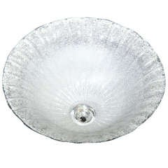 Glamorous Hand Blown Murano Glass Dome Shaped Flush Mount Chandeliers