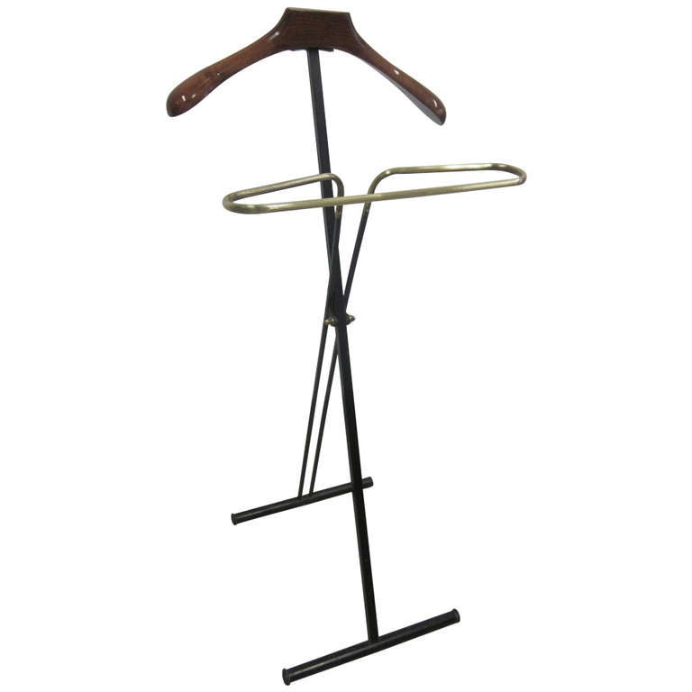 Two French Mid-Century Modern Personal Valets / Coat Stands