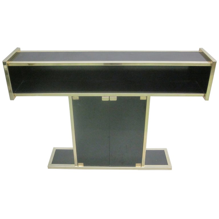 Italian Mid-Century Modern Bar, Console and Etagere in style of Willy Rizzo For Sale