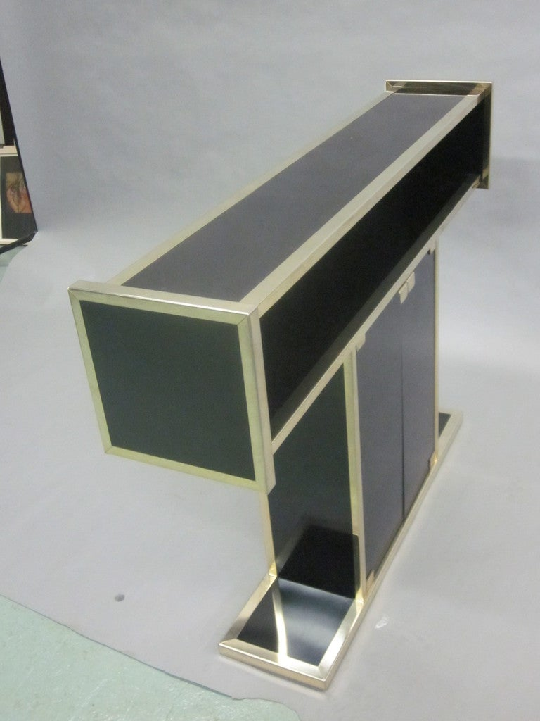 Italian Mid-Century Modern Bar, Console and Etagere in style of Willy Rizzo In Good Condition For Sale In New York, NY