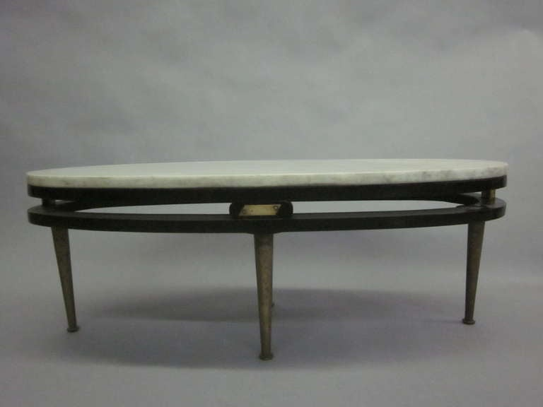 French Cantilevered Oval Cocktail Table 3