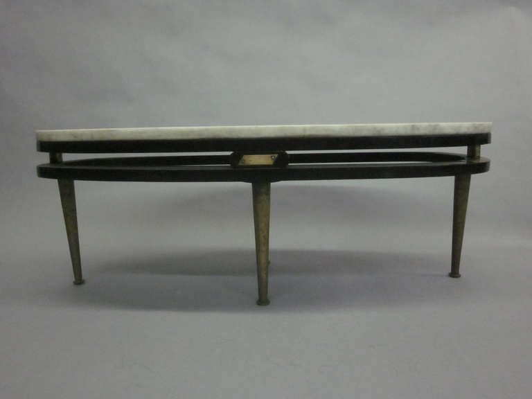 French Cantilevered Oval Cocktail Table 4