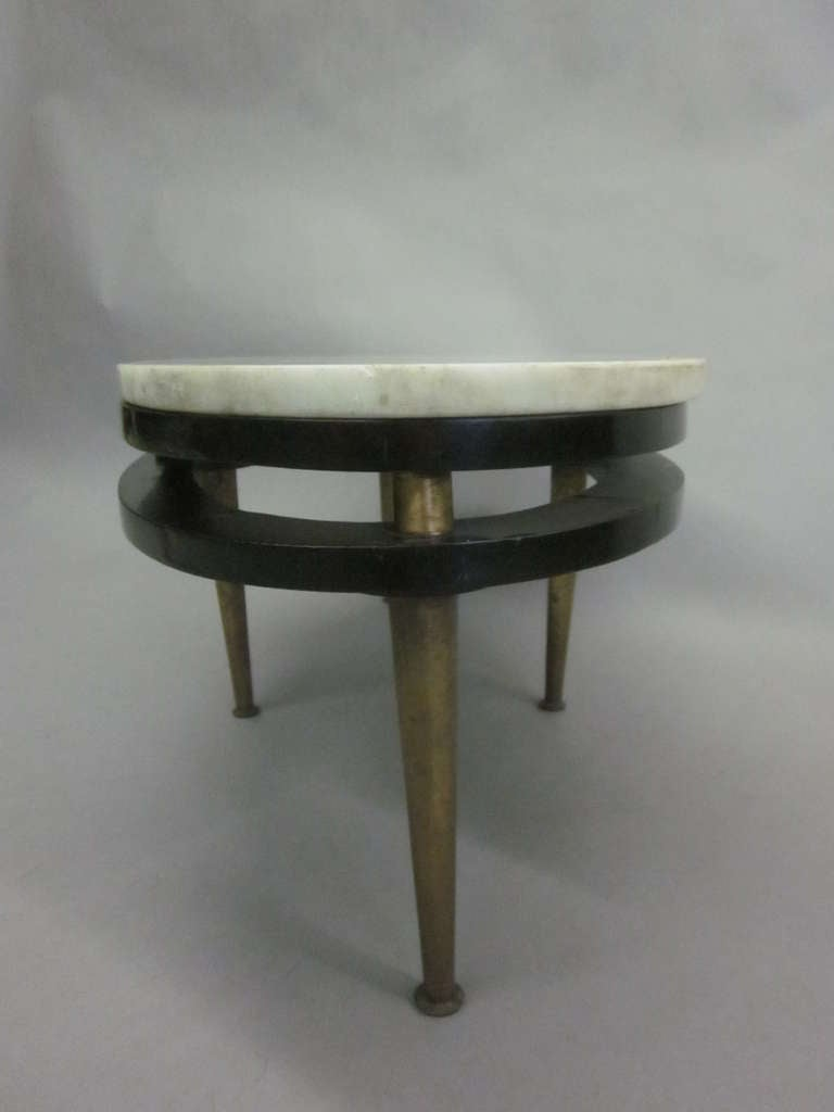 French Cantilevered Oval Cocktail Table 9