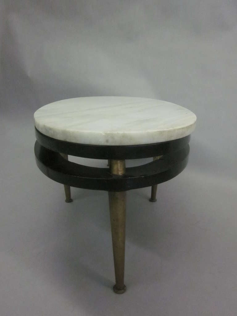 French Cantilevered Oval Cocktail Table 8