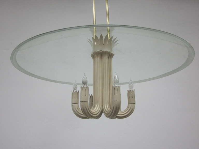 Mid-20th Century Italian Mid-Century Modern Pendant / Chandelier by Pietro Chiesa / Fontana Arte For Sale