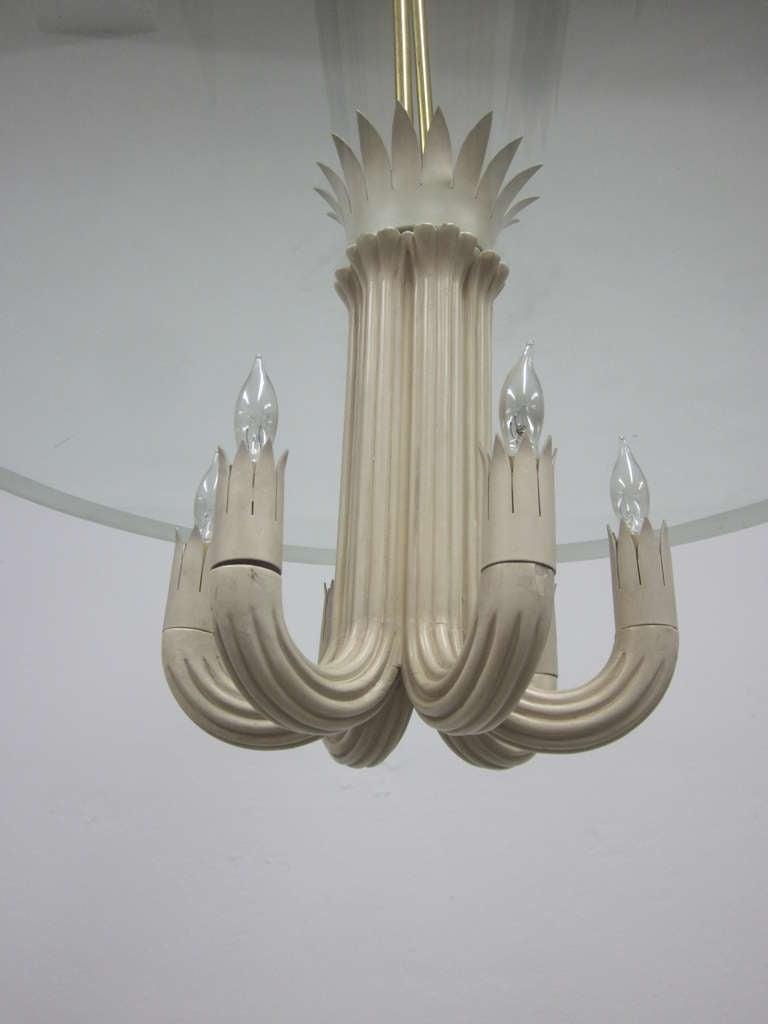Italian Mid-Century Modern Pendant / Chandelier by Pietro Chiesa / Fontana Arte For Sale 3