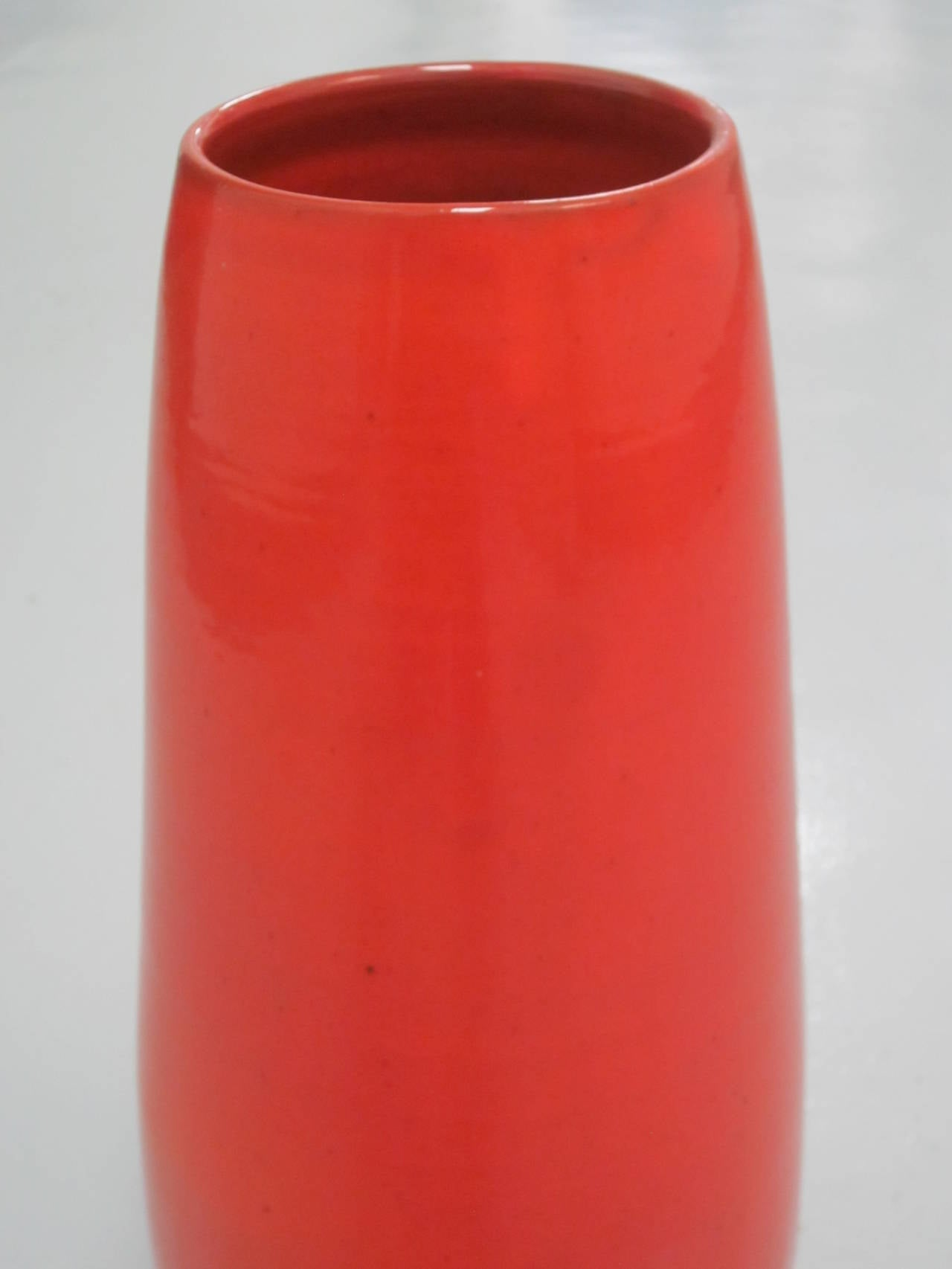 Large French Mid-Century Modern Glazed Ceramic Vase by Voltz for Vallauris 6