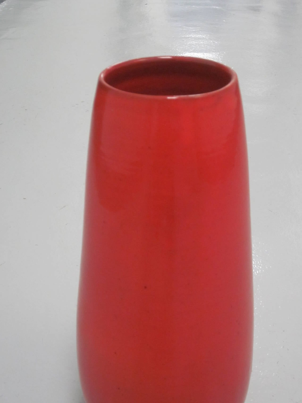 Large French Mid-Century Modern Glazed Ceramic Vase by Voltz for Vallauris 5