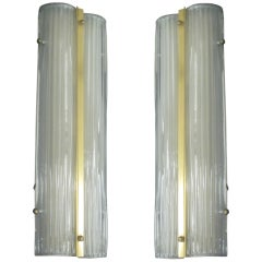 Two Large Italian Murano Glass Sconces / Fixtures
