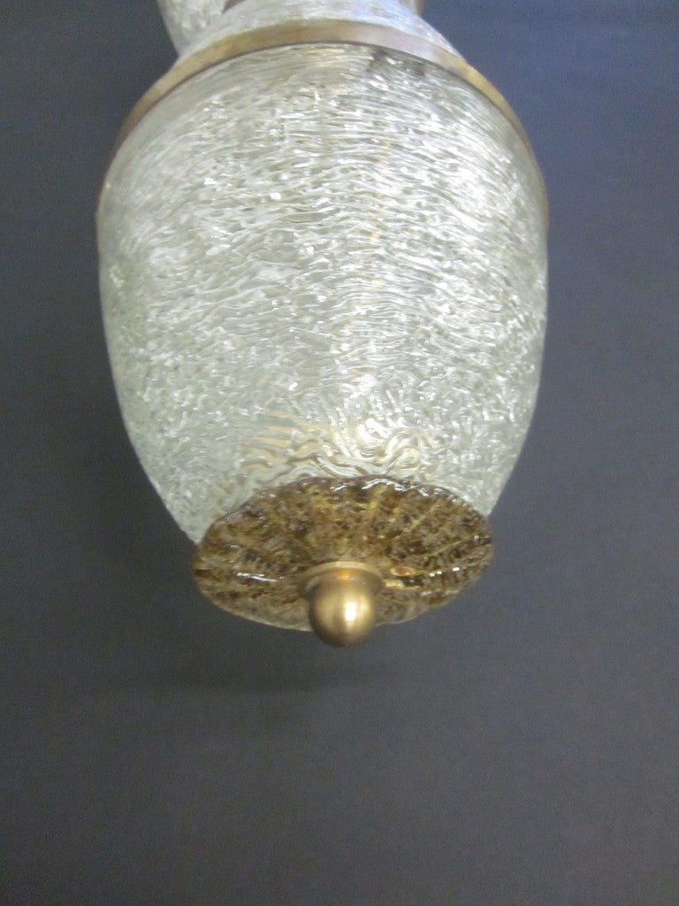 Large Glass Wall Sconces : Pair of Large Rare Murano Glass Wall Sconces For Sale at 1stdibs