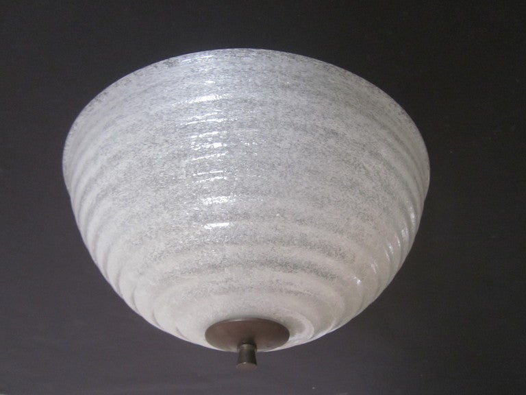 Iconic 1930 Murano Glass Flush Mount or Pendant by Barovier & Toso 2
