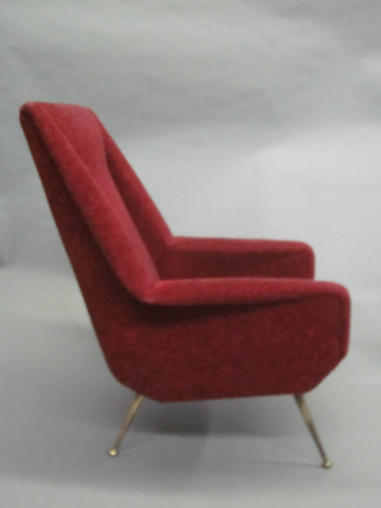 Pair of Italian Mid-Century Modern Lounge Chairs Attr. Gianfranco Frattini, 1950 8
