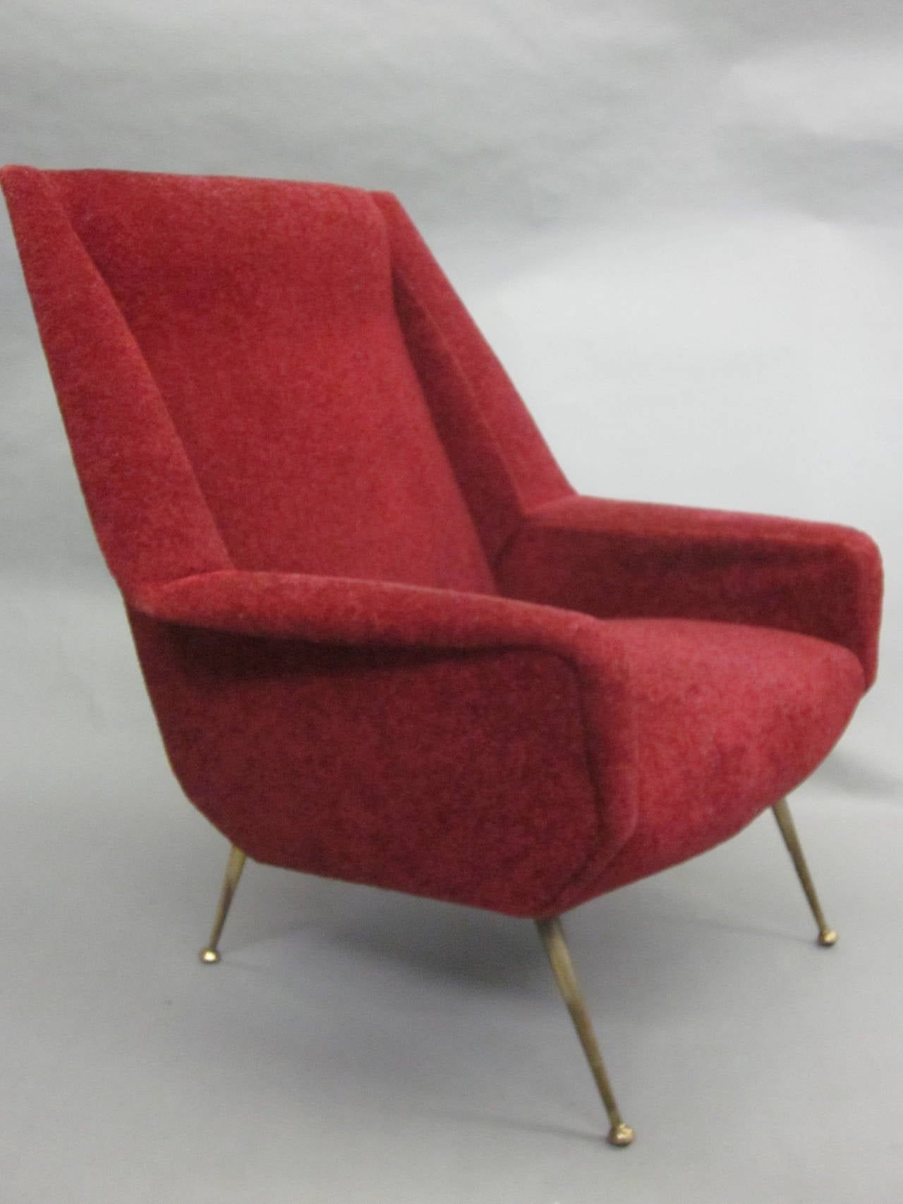 Pair of Italian Mid-Century Modern Lounge Chairs Attr. Gianfranco Frattini, 1950 2
