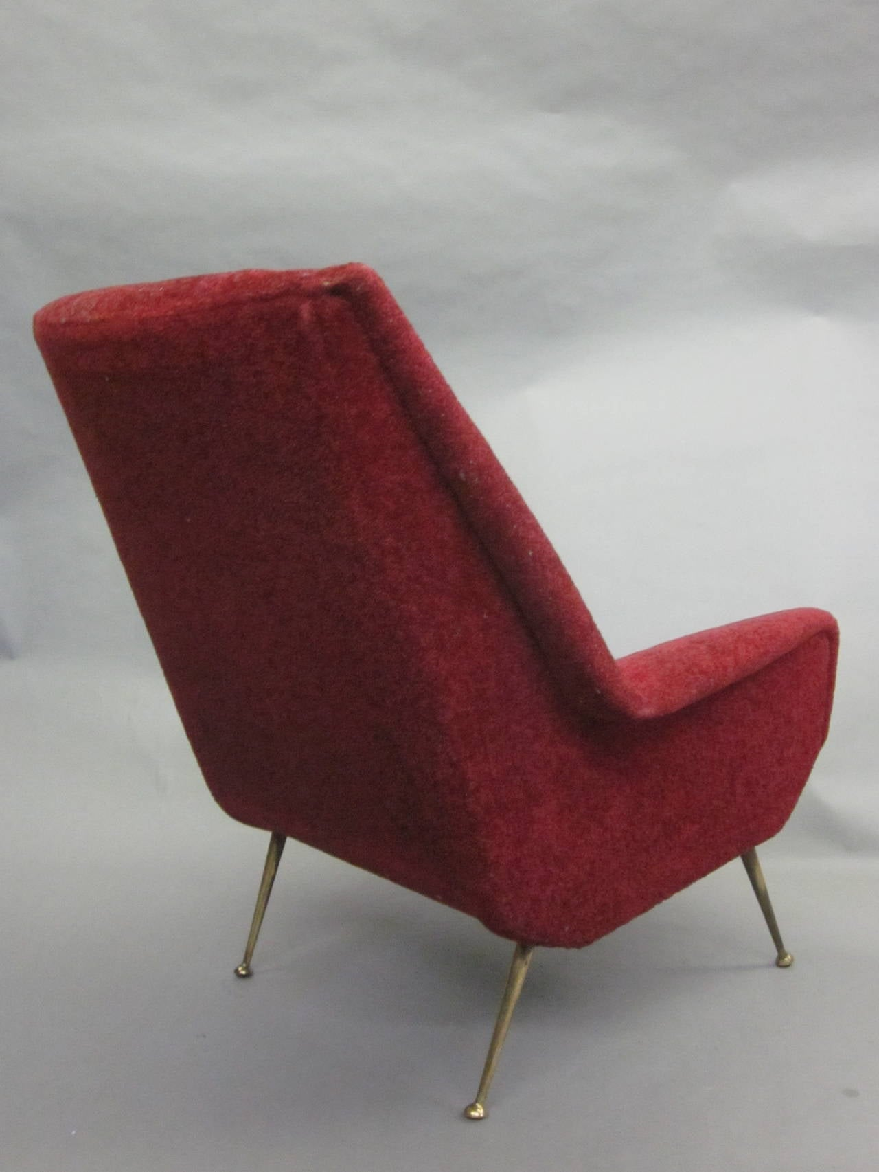 Pair of Italian Mid-Century Modern Lounge Chairs Attr. Gianfranco Frattini, 1950 4