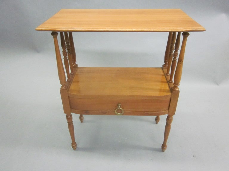 Mid-20th Century Pair of French Mid-Century Modern Nightstands / End Tables in Andre Arbus Style For Sale