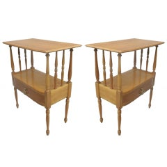 Pair of French Mid-Century Modern Nightstands / End Tables in Andre Arbus Style