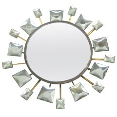 Important Italian Mirror by Max Ingrand for Fontana Arte
