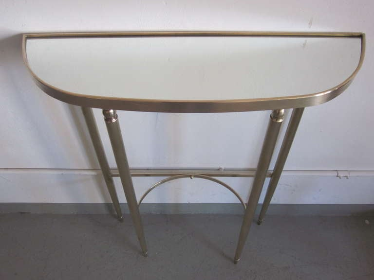 Italian Mid-Century Modern Neoclassical Brass Console by Guglielmo Ulrich, 1950 For Sale 2