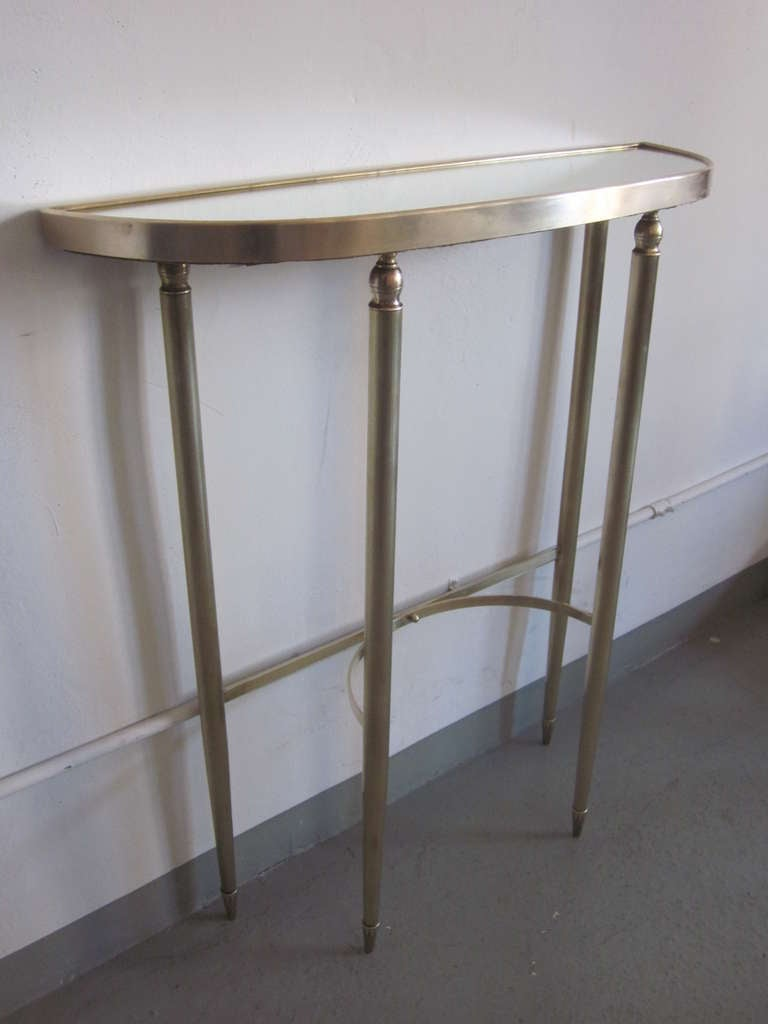Neoclassical Revival Italian Mid-Century Modern Neoclassical Brass Console by Guglielmo Ulrich, 1950 For Sale