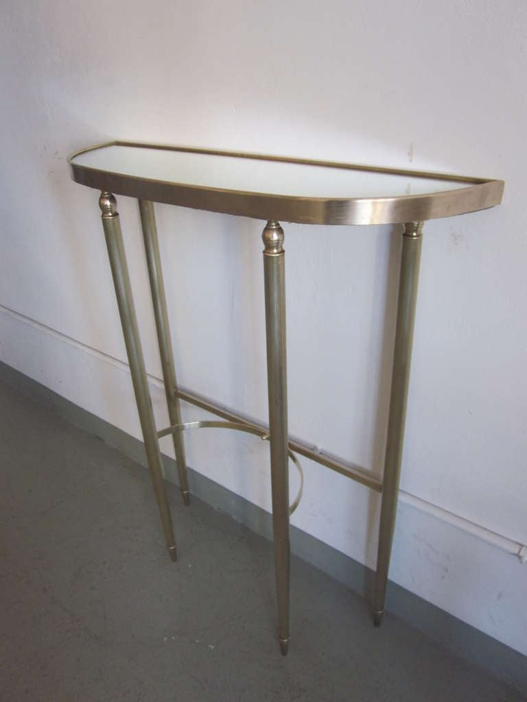 Italian Mid-Century Modern Neoclassical Brass Console by Guglielmo Ulrich, 1950 For Sale 1