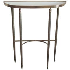 Italian Mid-Century Modern Neoclassical Brass Console by Guglielmo Ulrich, 1950