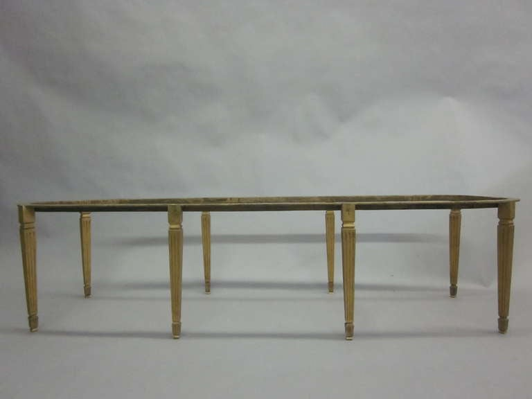 Rare French Modern Neoclassical Gilt Bronze Coffee Table by Sue and Mare, 1925 In Good Condition For Sale In New York, NY