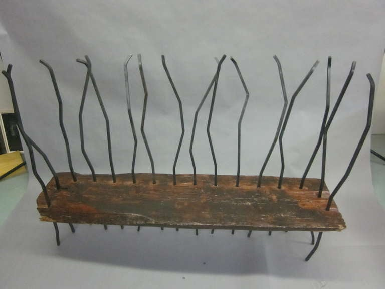 Hand Made Italian Modern Brutalist Bench / Sofa in the Spirit of Andrea Branzi In Good Condition For Sale In New York, NY