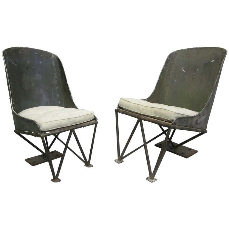Important Early Prototype French Helicopter Chairs by Louis Breguet