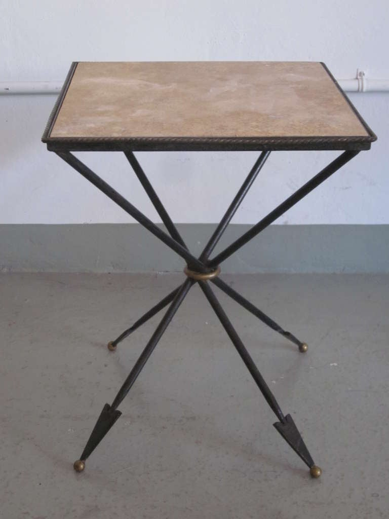 Pair of French 1940s Style Modern Neoclassical Gueridons / Side Tables In Good Condition For Sale In New York, NY