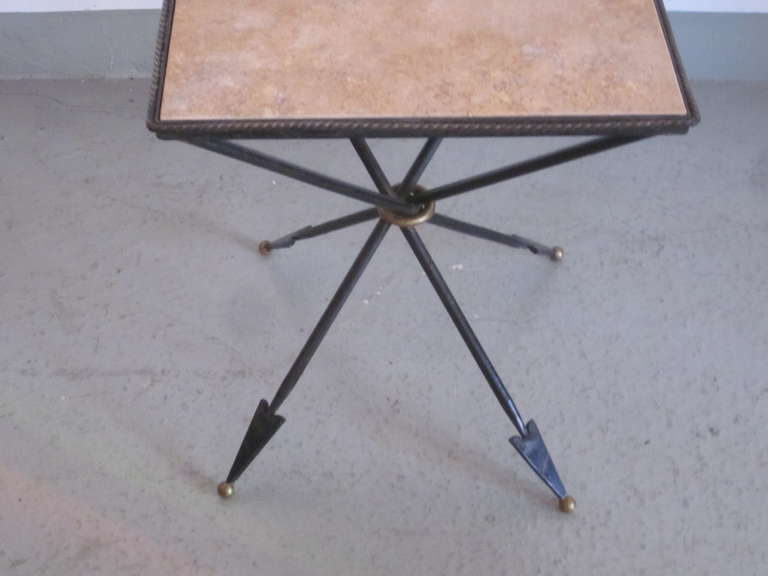 20th Century Pair of French 1940s Style Modern Neoclassical Gueridons / Side Tables For Sale