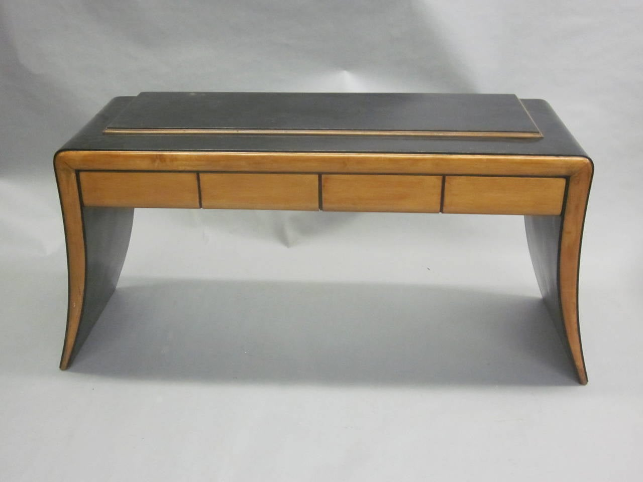 Ebonized Italian Art Deco / Modern Neoclassical Vanity / Sofa Table by Paolo Buffa, 1930 For Sale