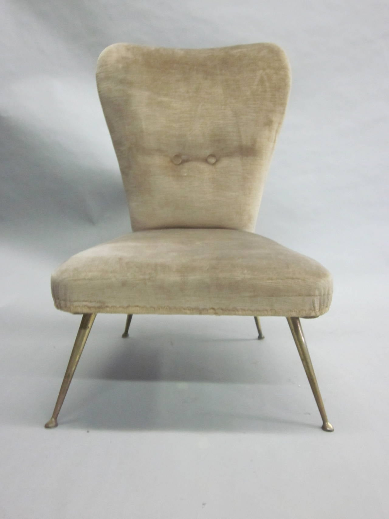 Pair of Italian Mid-Century Slipper Chairs Attributed to Marco Zanuso 6