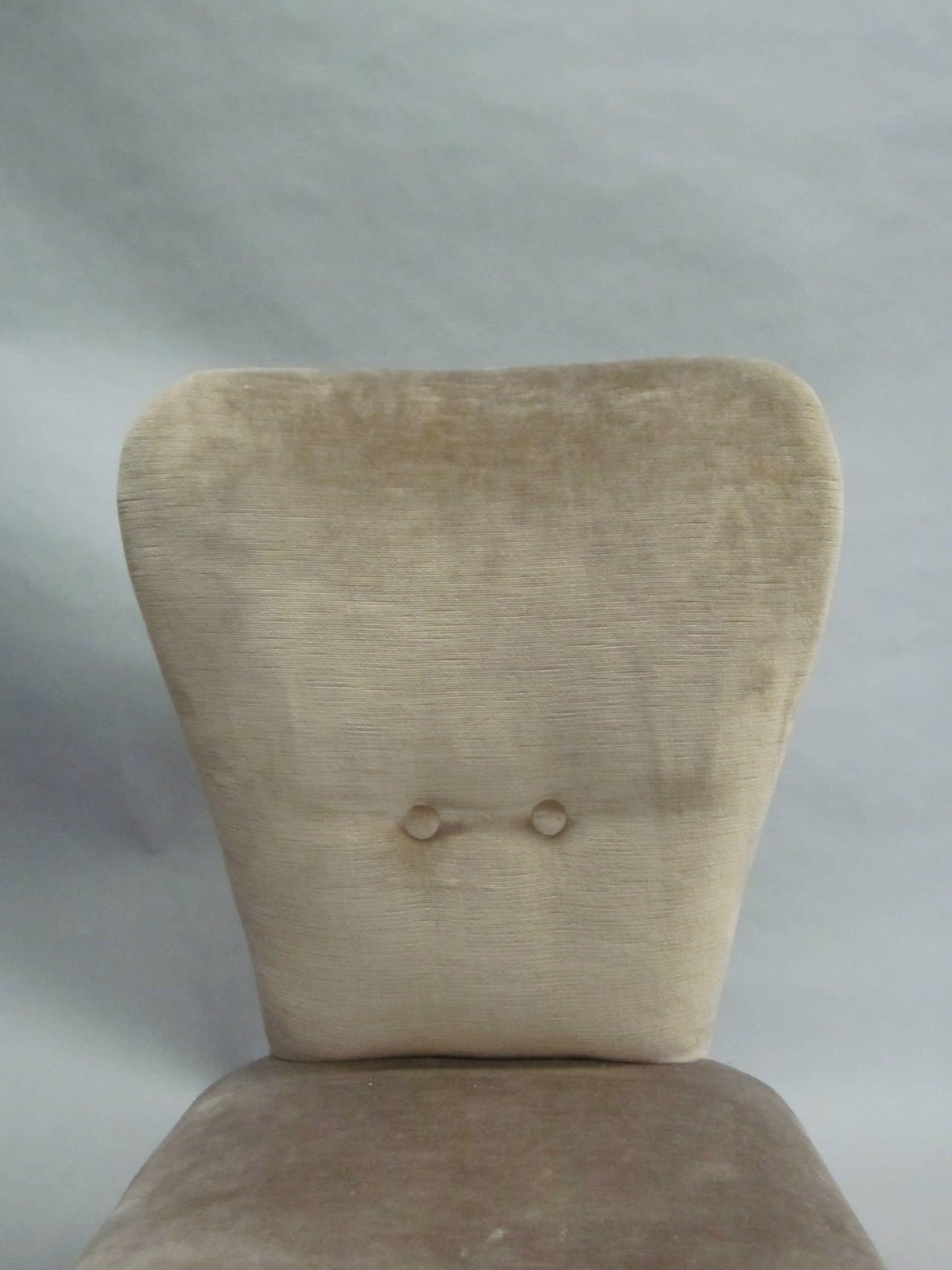 Pair of Italian Mid-Century Slipper Chairs Attributed to Marco Zanuso 7