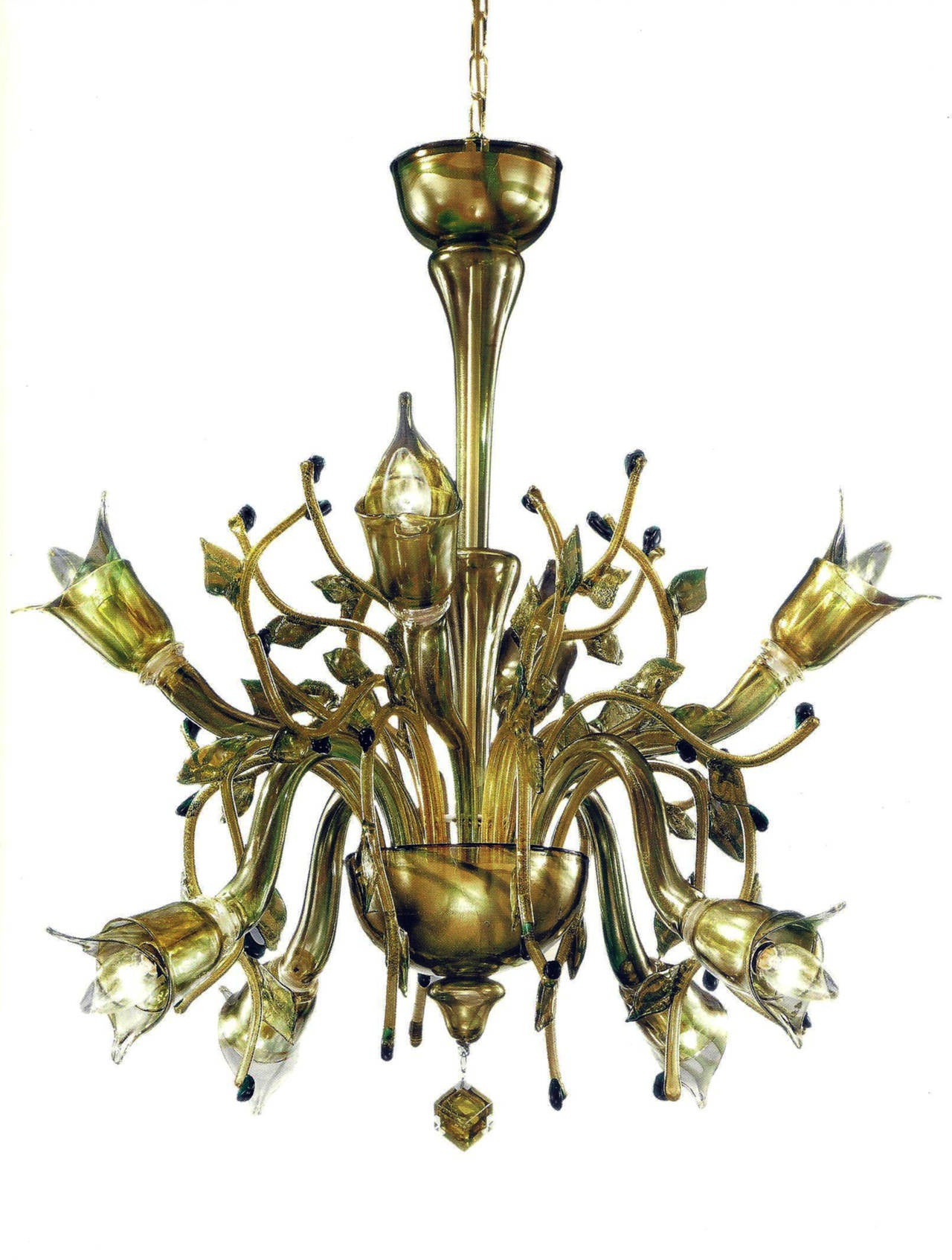 "Monumental Four Elements Venetian Glass Chandelier, ""Earth, Water, Air and Fire"" 3"