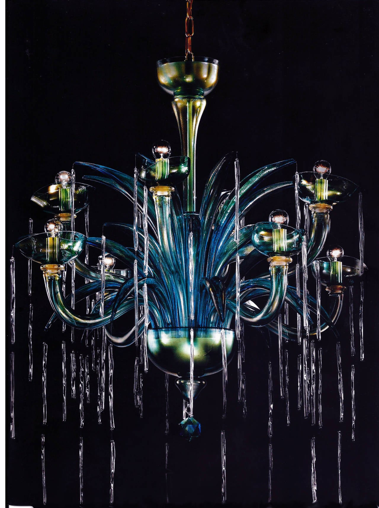 "Monumental Four Elements Venetian Glass Chandelier, ""Earth, Water, Air and Fire"" 4"