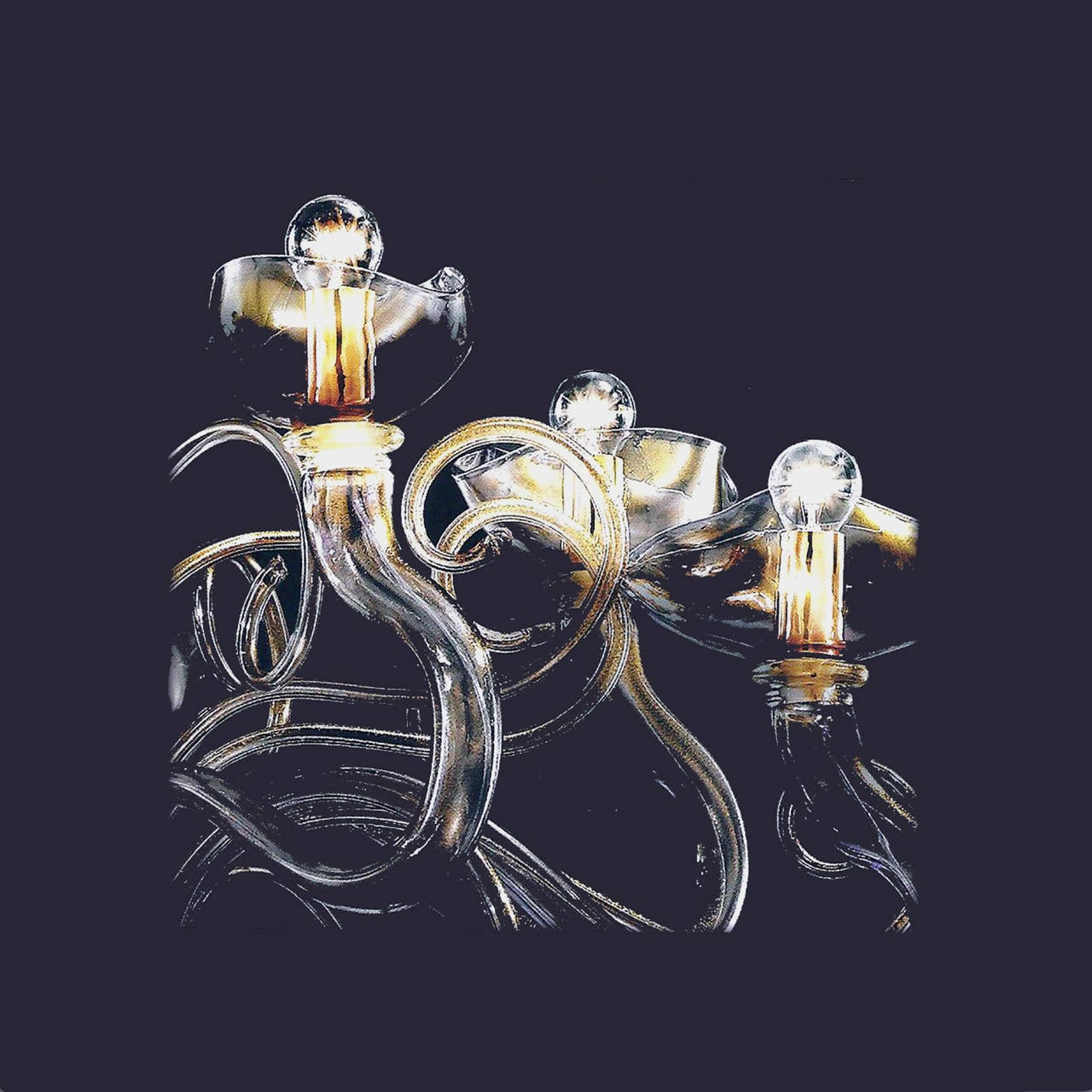 "Monumental Four Elements Venetian Glass Chandelier, ""Earth, Water, Air and Fire"" 8"