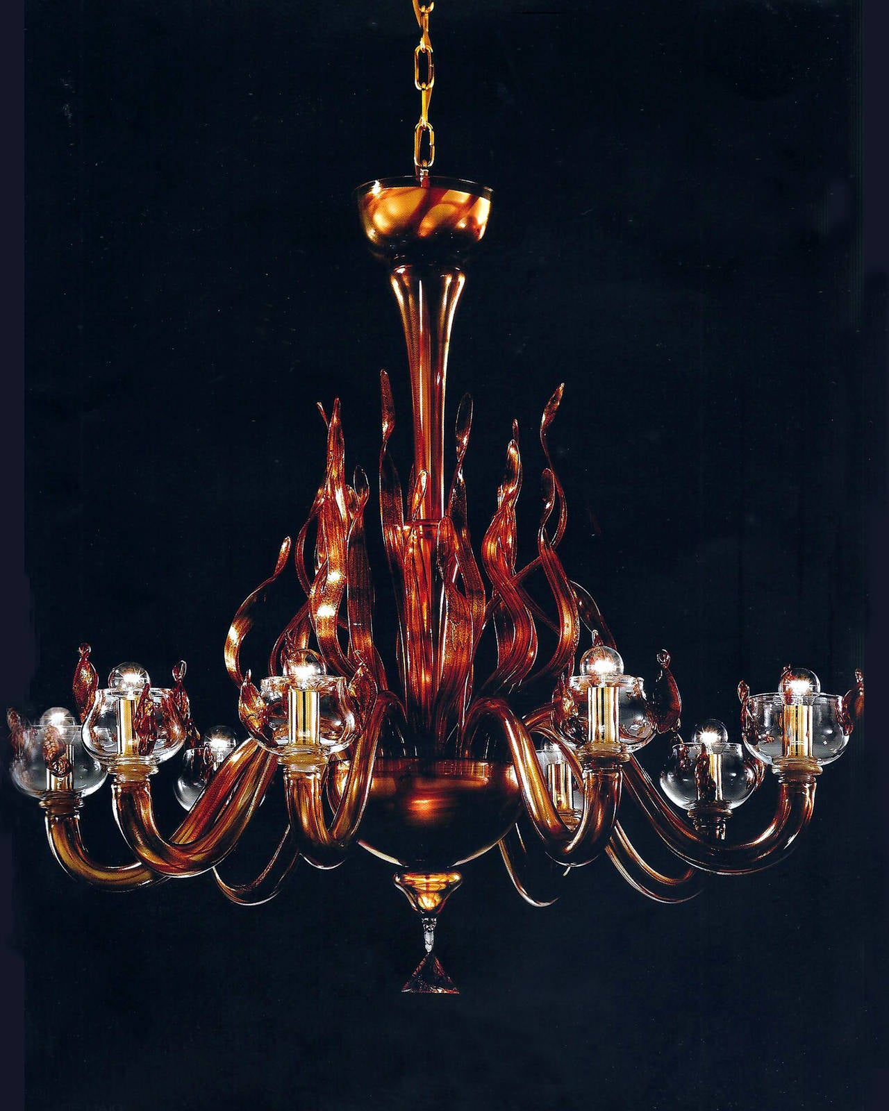 "Monumental Four Elements Venetian Glass Chandelier, ""Earth, Water, Air and Fire"" 5"
