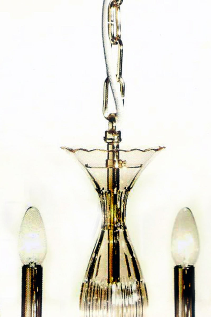 Amber Murano Glass Twelve-Arm Chandelier 5