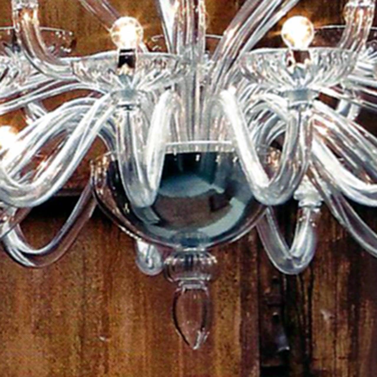 Monumental Italian Triple Tier 30 Arm Clear Murano / Venetian Glass Chandelier For Sale 1