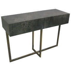 French Modern Credenza /Console / Sofa Table by Jacques Quinet, 1970