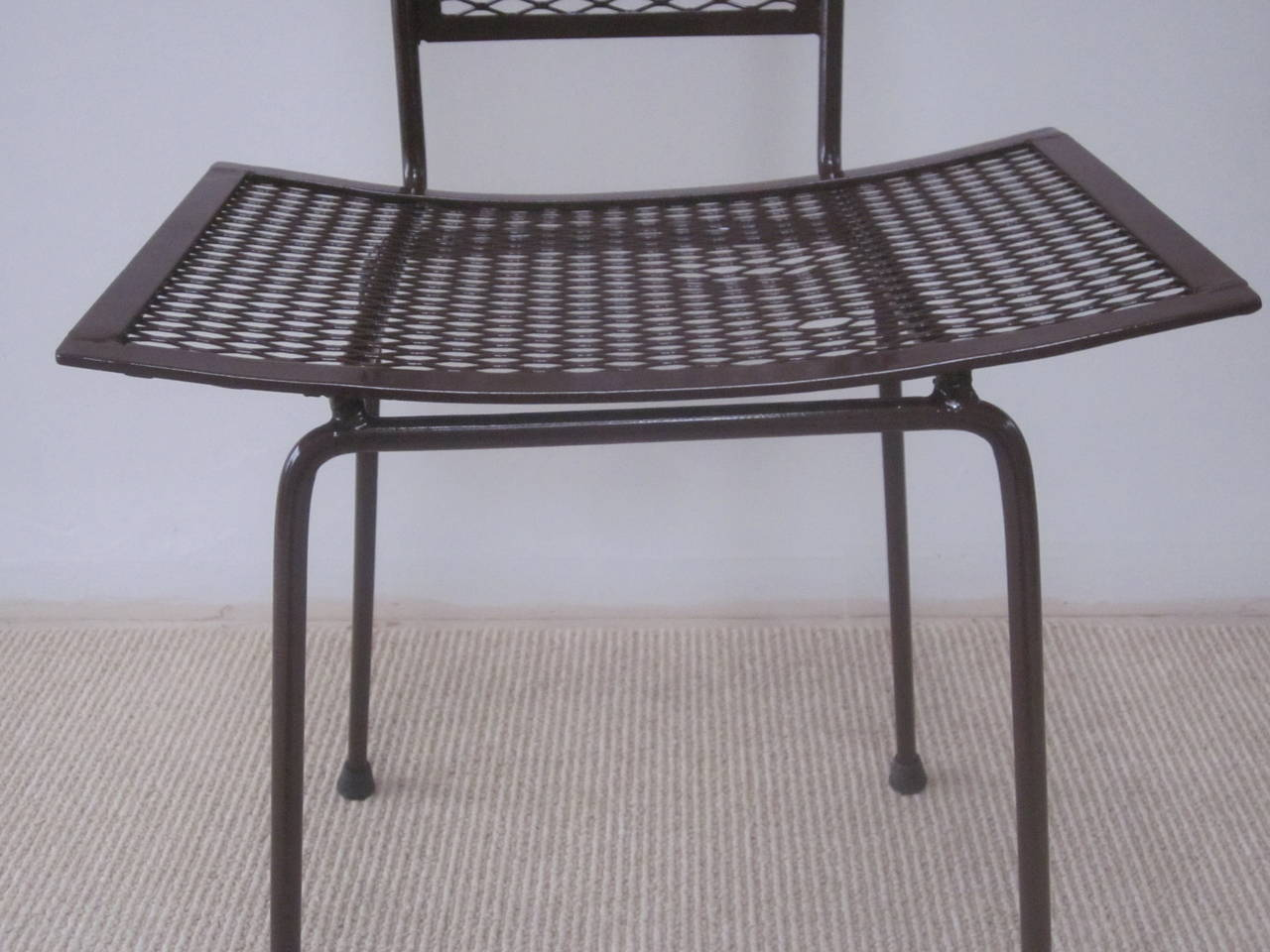 Mid-Century Modern Craftsman Transparent Iron Desk / Side Chair For Sale 5