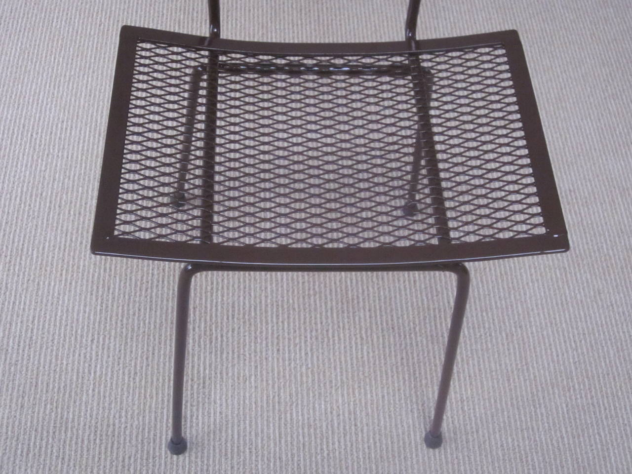 Mid-Century Modern Craftsman Transparent Iron Desk / Side Chair For Sale 4