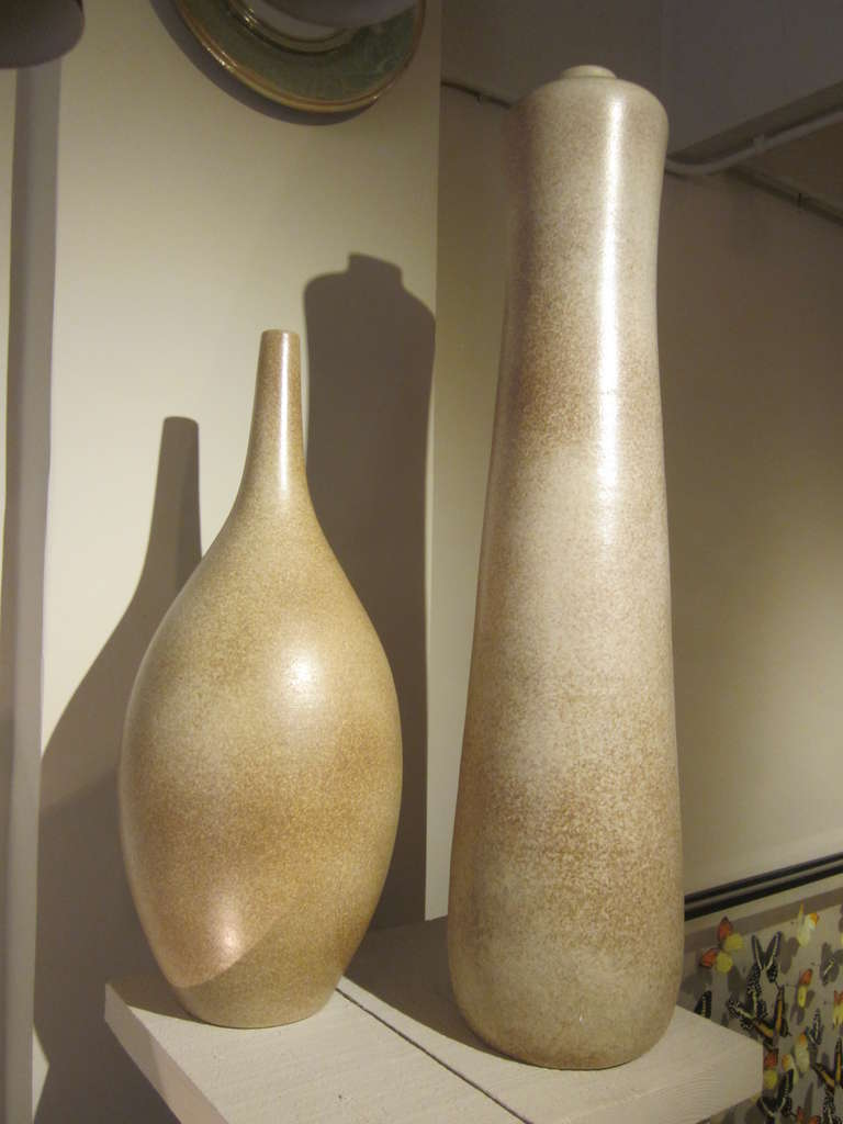 Two Very Large French Sculptural Vases by Marius Musarra 2
