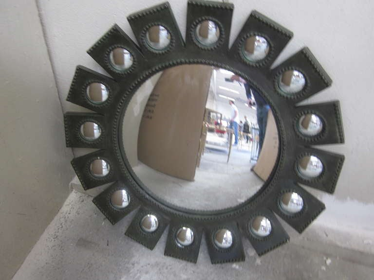 Exquisite French 'Sunburst' Mirror in the Style of Line Vautrin 2