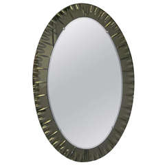 Exceptional Italian Mirror by Crystal Arte in the Form of a Sunburst