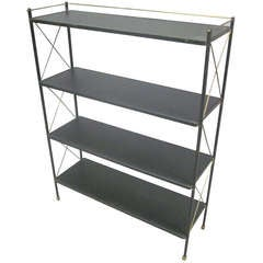 Leather Etagere by Jacques Adnet