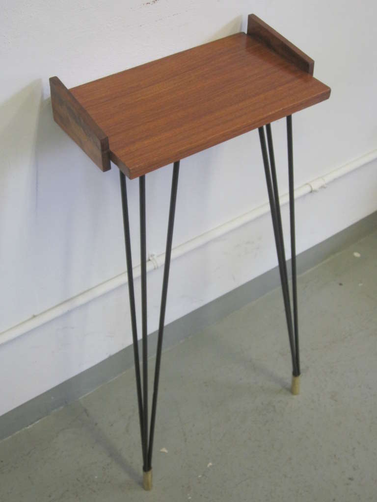 Pair of French Mid-Century Modern Consoles or Nightstands Pierre Guariche For Sale 1