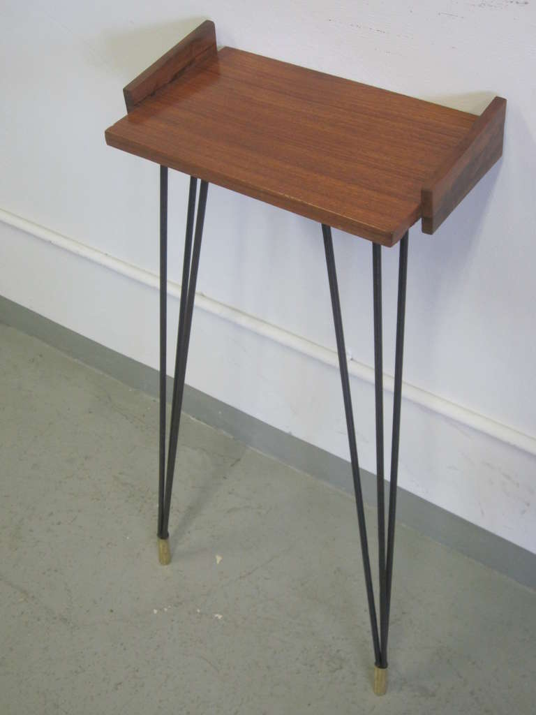 Pair of French Mid-Century Modern Consoles or Nightstands Pierre Guariche For Sale 2