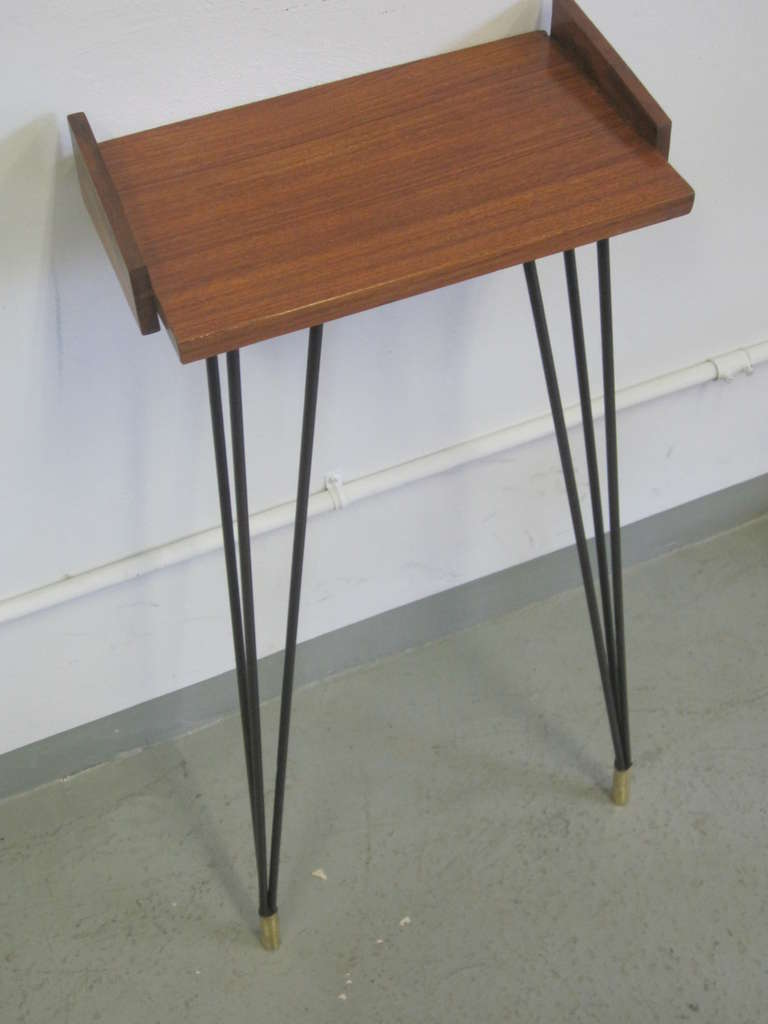 Pair of French Mid-Century Modern Consoles or Nightstands Pierre Guariche For Sale 3