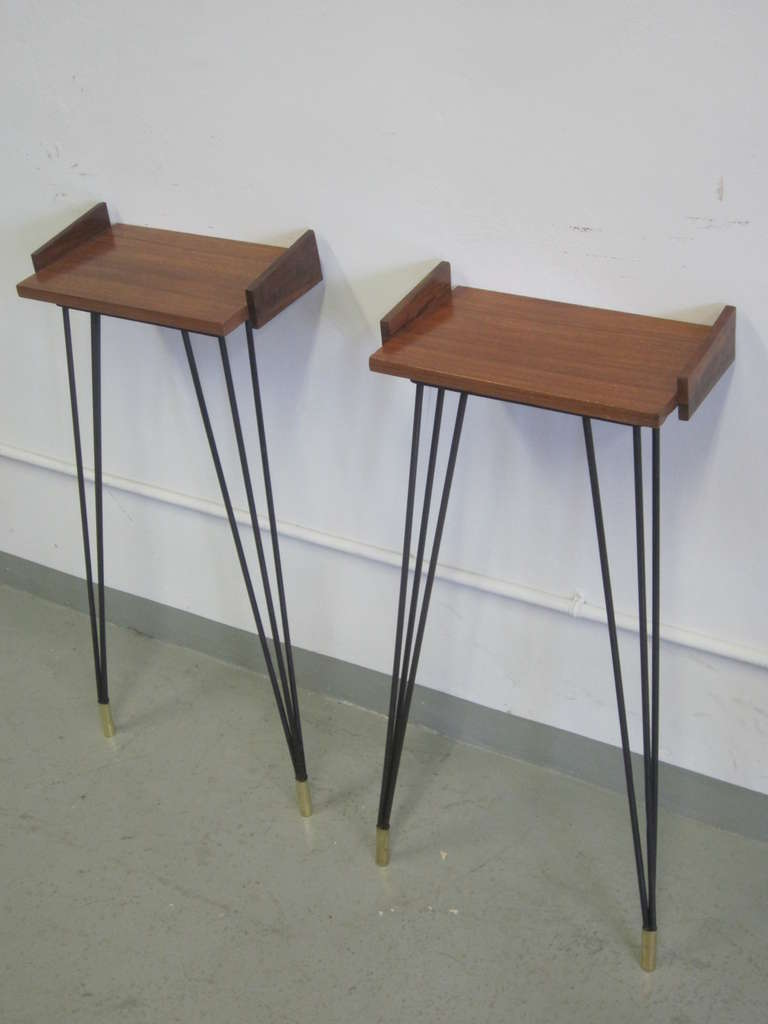 Pair of French Mid-Century Modern Consoles or Nightstands Pierre Guariche In Good Condition For Sale In New York, NY